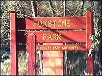 Foxstone Park entrance, dropsite (Associated Press)